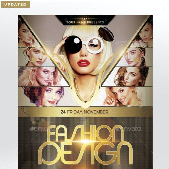 Fashion Design Flyer Template