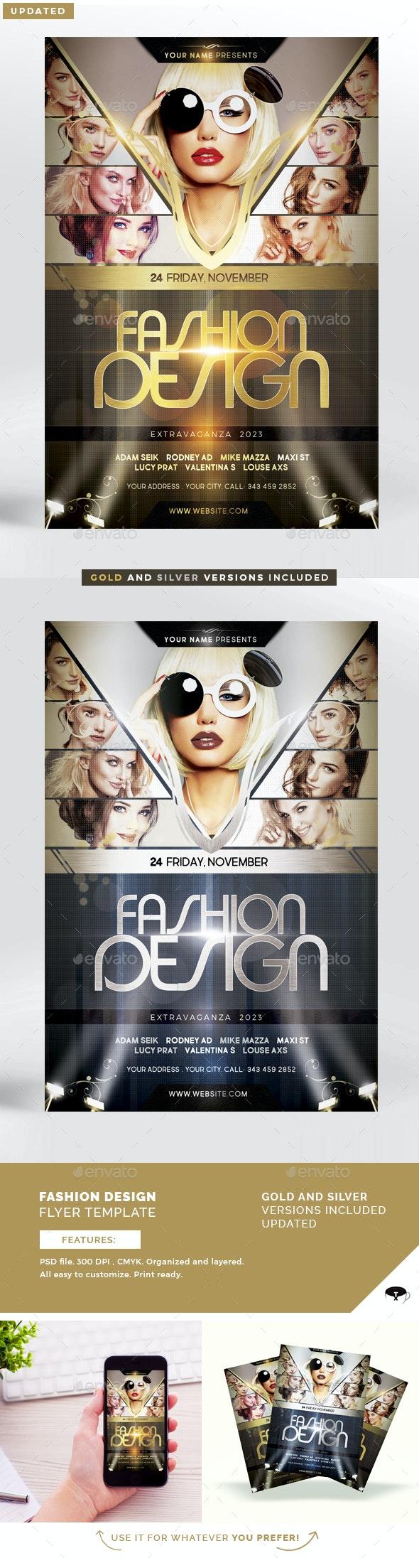 Fashion Design Flyer Template - Flyers Print Templates