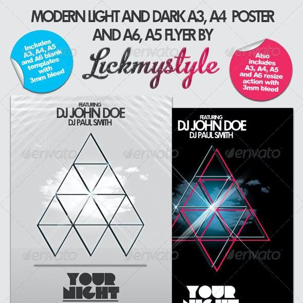 Modern Poster/Flyer A3, A4, A5 and A6