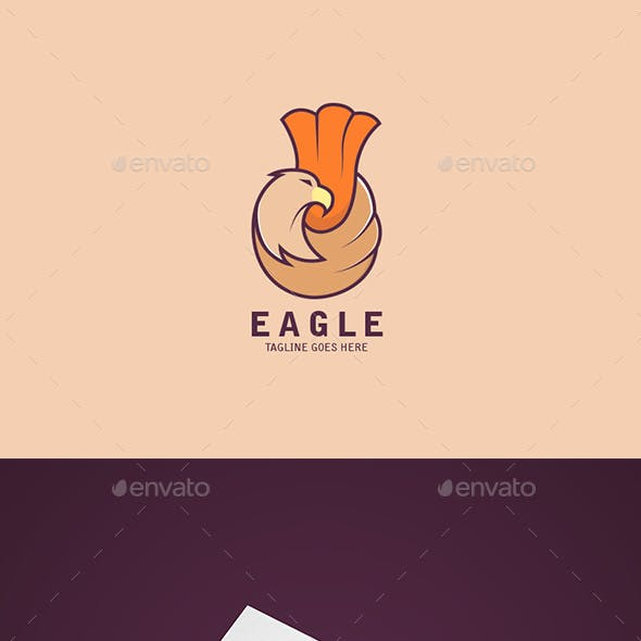 Simple and Colorful Eagle Logo