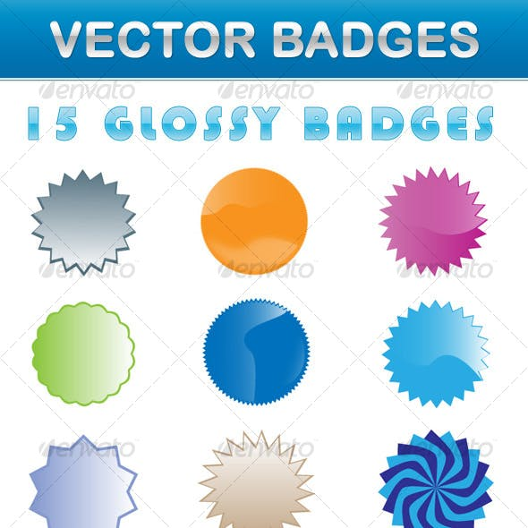 Glossy Vector Badges