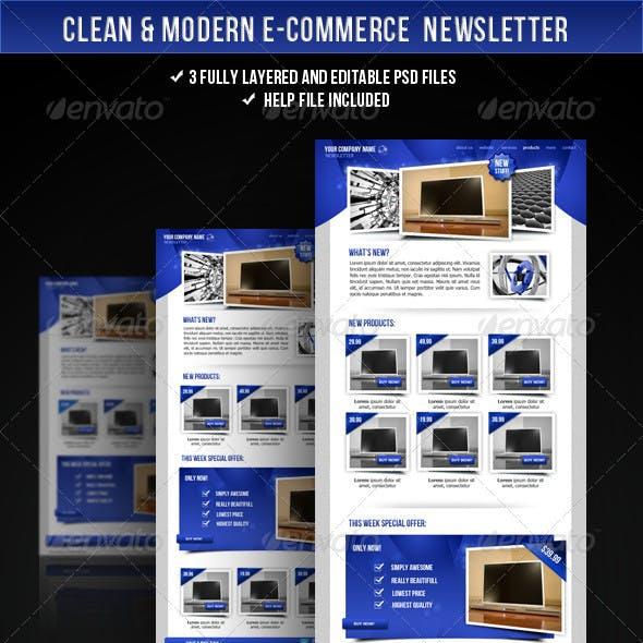 Clean E-commerce Newsletter
