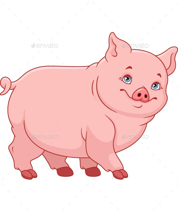 Little Fat Pig - Animals Characters