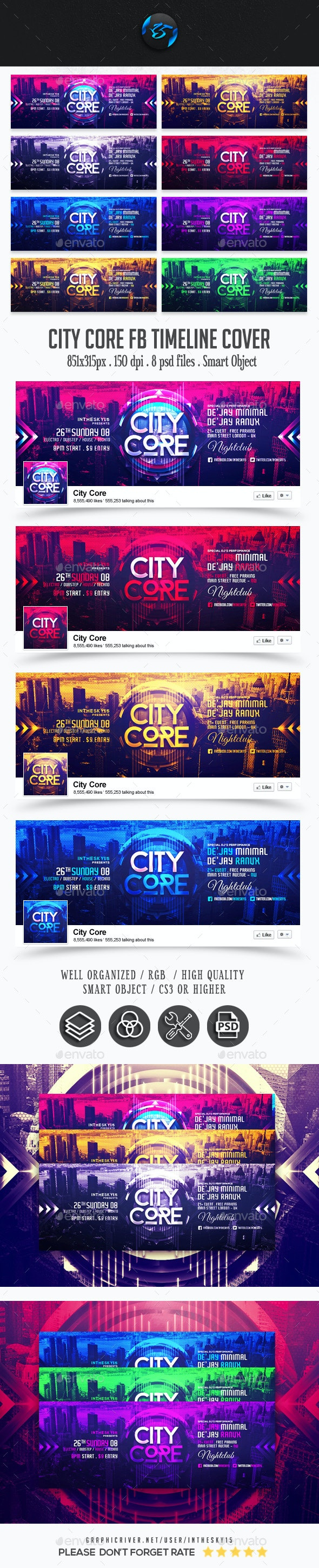 City Core FB Timeline Cover - Facebook Timeline Covers Social Media