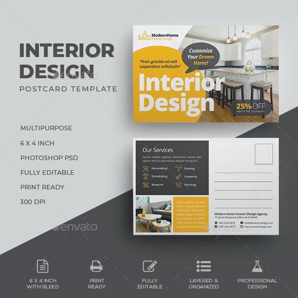 Interior Design Postcard