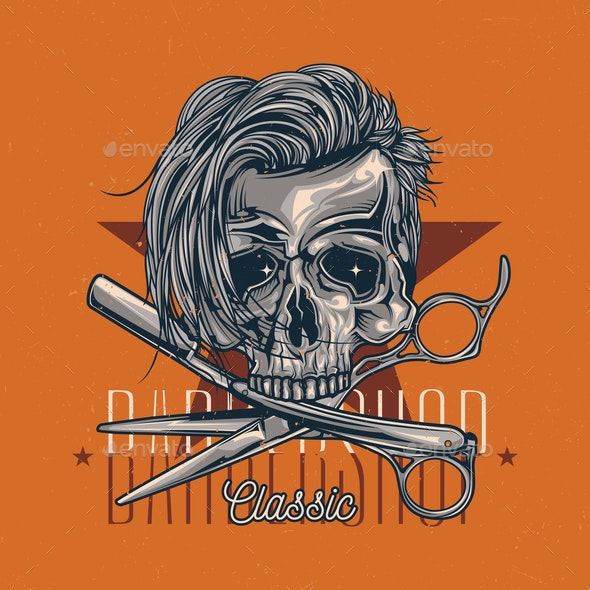 Barber Skull - Miscellaneous Vectors