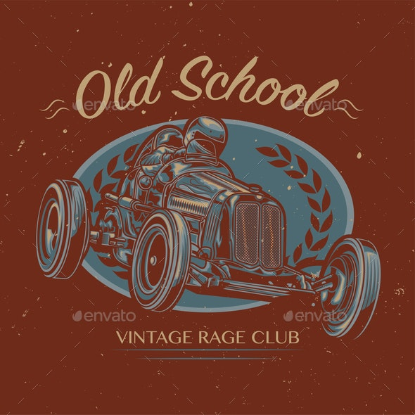 Old School Custom Hot Rod - Sports/Activity Conceptual