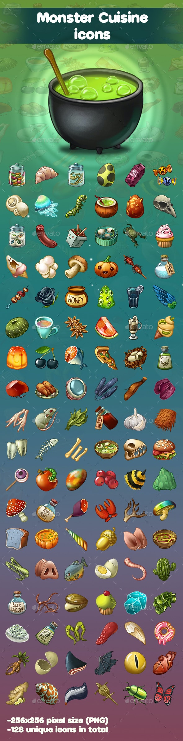 Monster Cuisine Icons - Miscellaneous Game Assets
