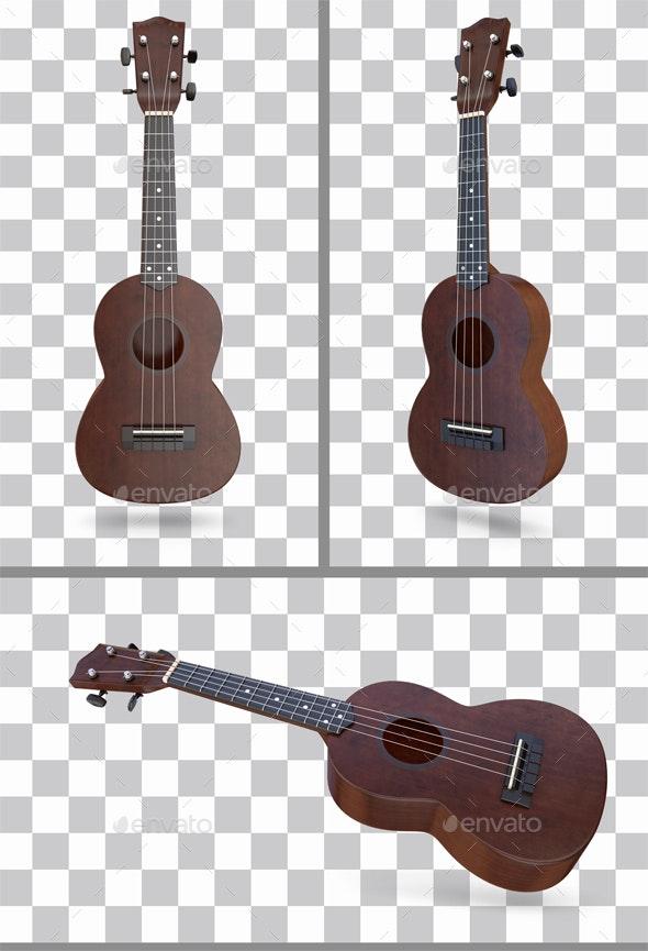 Ukulele - Objects 3D Renders