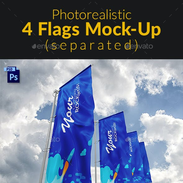 Separated 4 Flags MockUp