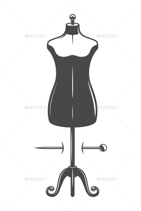 Vintage Female Body Mannequin Concept - Miscellaneous Vectors