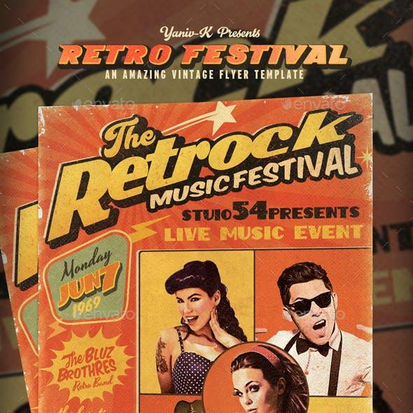 Retro Festival (Magazine) Flyer