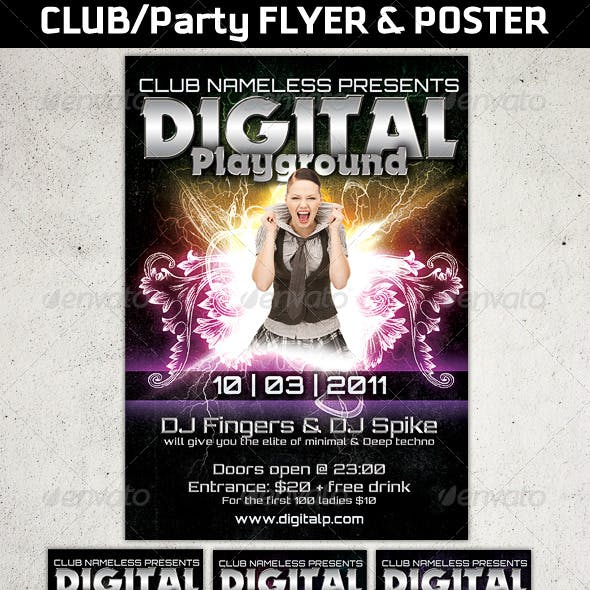 Modern Club or Party flyers And posters templates