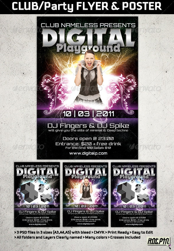 Modern Club or Party flyers And posters templates - Clubs & Parties Events