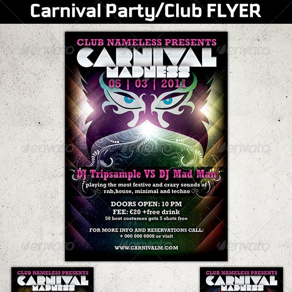 Carnival Party/Club Flyer Template