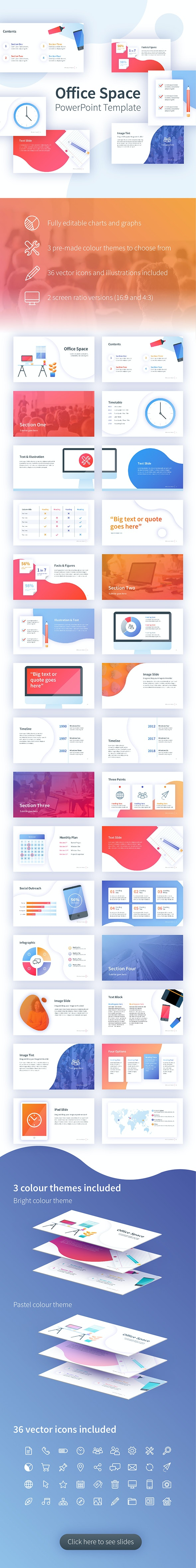 Office Space PowerPoint Template - Creative PowerPoint Templates
