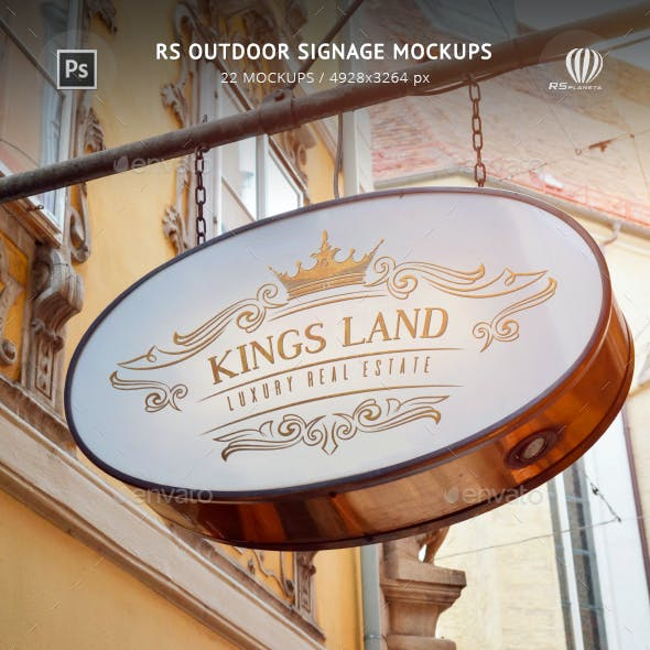 RS Outdoor Signage Mockups