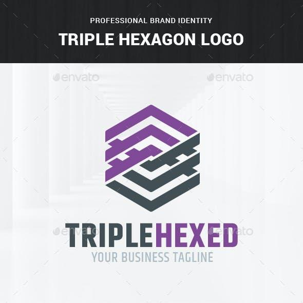 Triple Hexagon Logo Template
