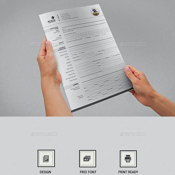2 Page Registration Form