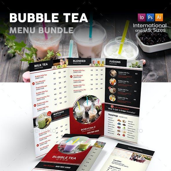Bubble Tea Menu Print Bundle 2