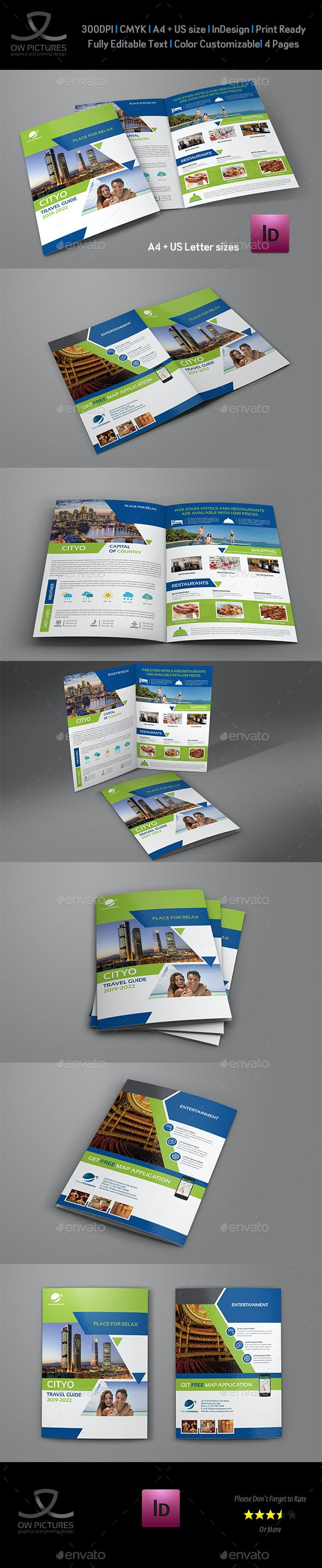 Travel Guide Bi-Fold Brochure Template by OWPictures