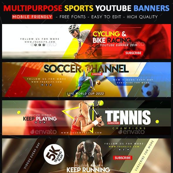 Creative Sports YouTube Banner