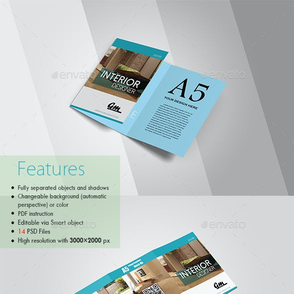 Trifold A5 Brochure Mock-up