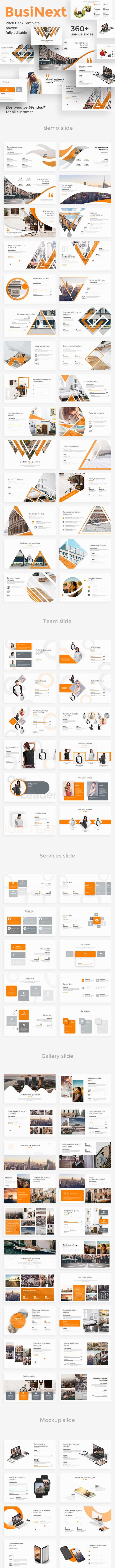 BusiNext Fully Animated Pitch Deck Powerpoint Template - Business PowerPoint Templates