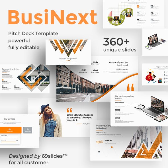 BusiNext Fully Animated Pitch Deck Powerpoint Template