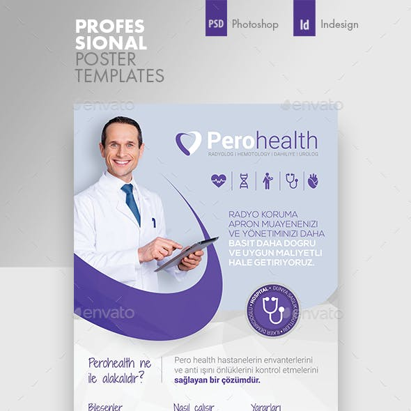 Health Application Poster Templates