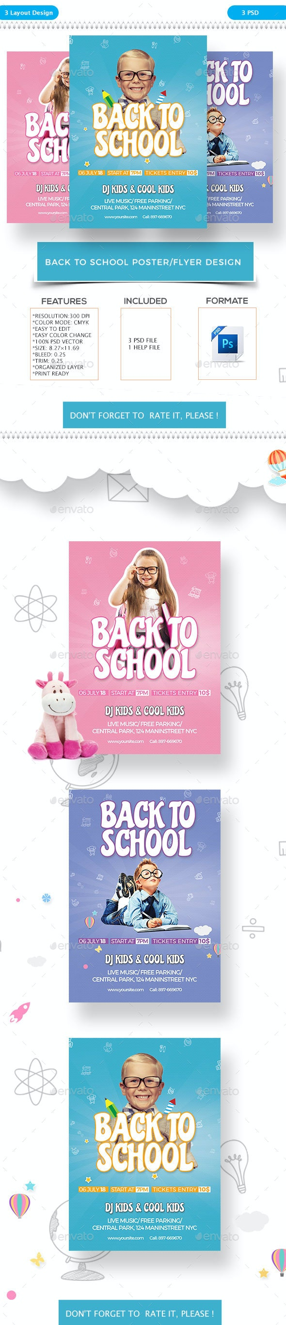Back To School Flyer - Flyers Print Templates