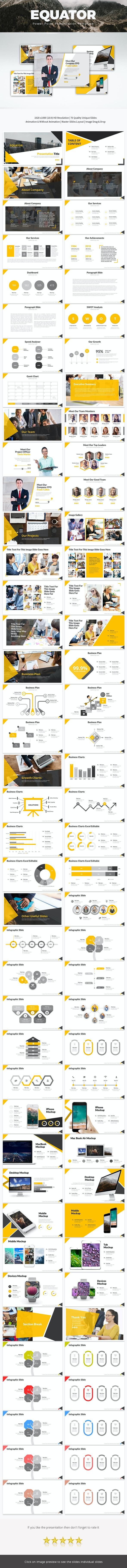 Equator Power Point Presentation - Business PowerPoint Templates