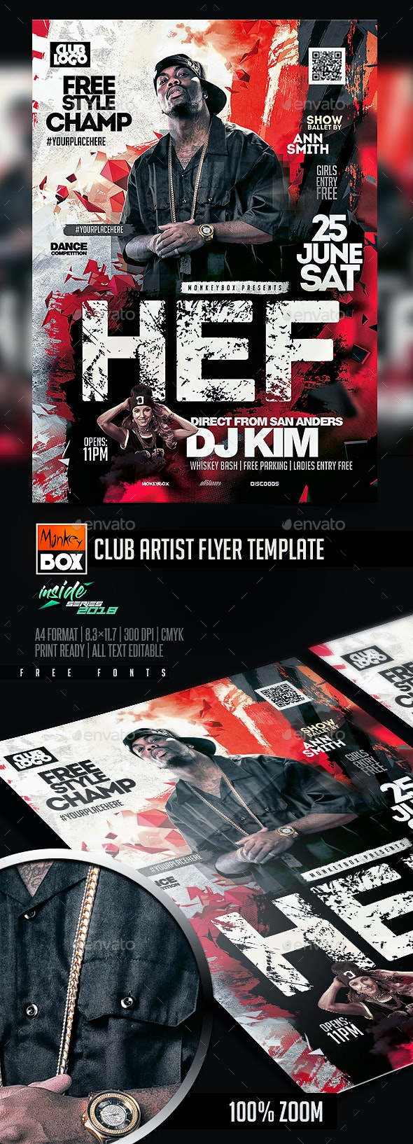 Club Artist Flyer Template - Clubs & Parties Events