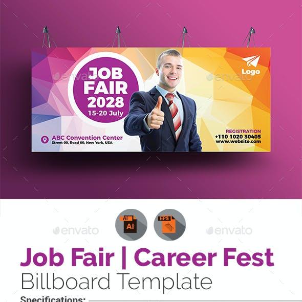 Career Fest | Job Fair Billboard Template