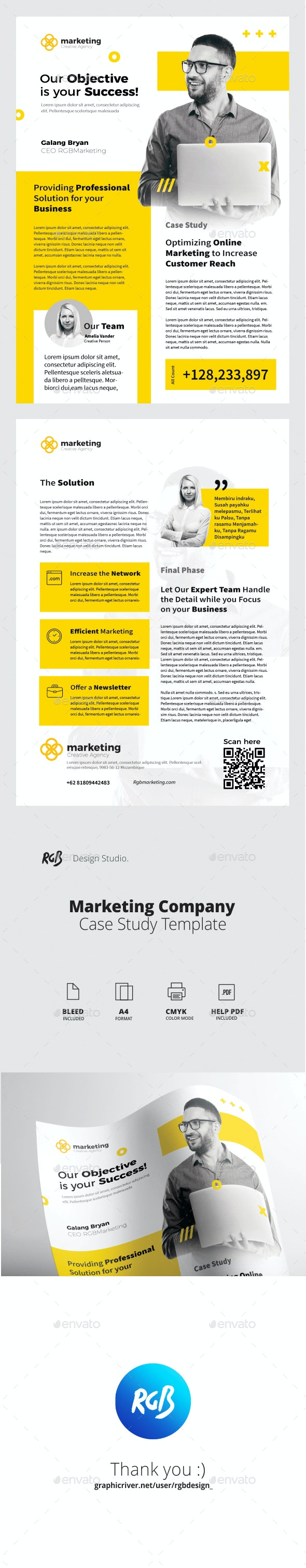 Marketing Case Study - Newsletters Print Templates