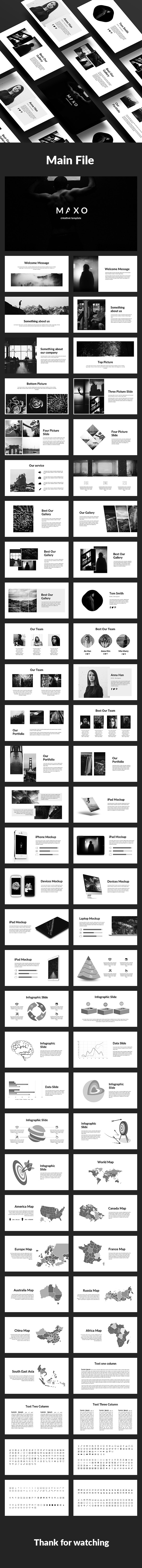 Maxo-Creative Powerpoint Template - Creative PowerPoint Templates