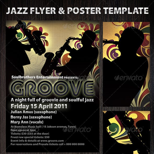 Jazz flyers & Poster template 2