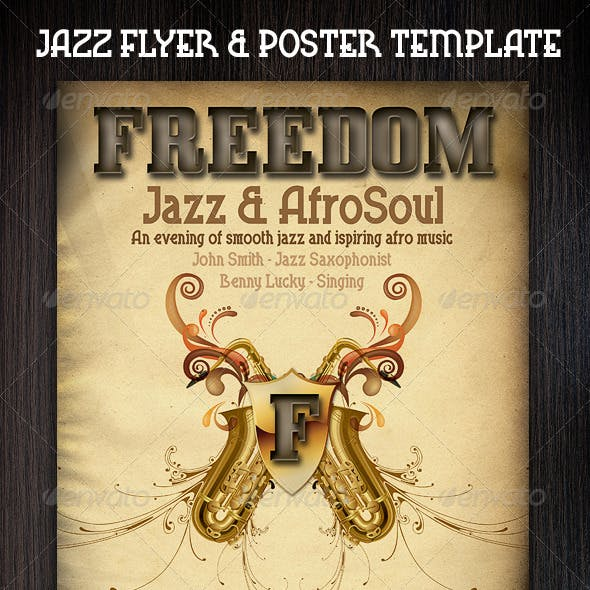 Jazz Flyers & Poster template