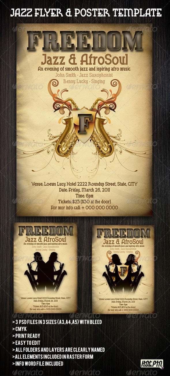 Jazz Flyers & Poster template - Concerts Events