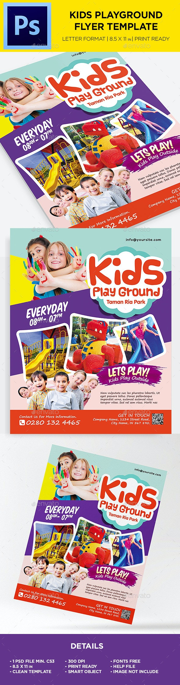 Kids Activities Flyer -  Kids Play Ground - Corporate Flyers