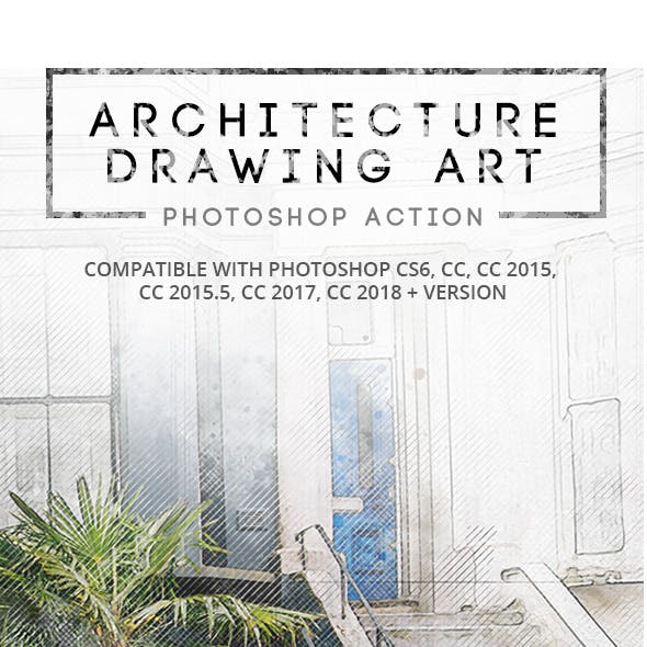 Architecture Drawing Art - Photoshop Action