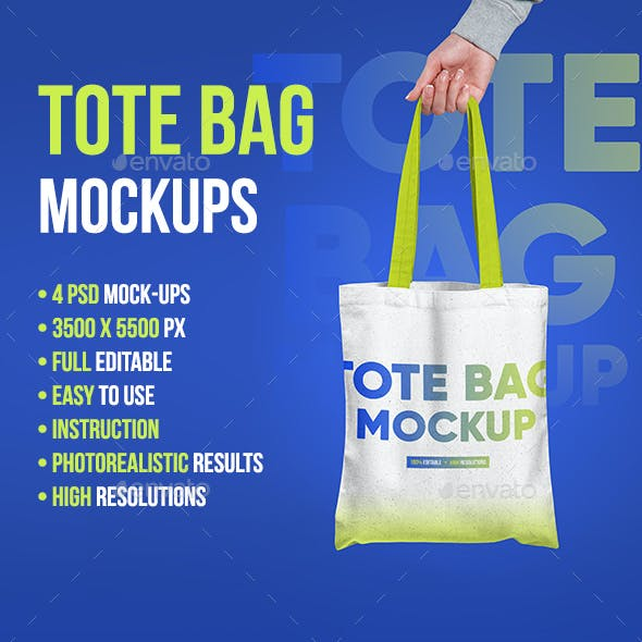 Canvas Tote Bag Mockup