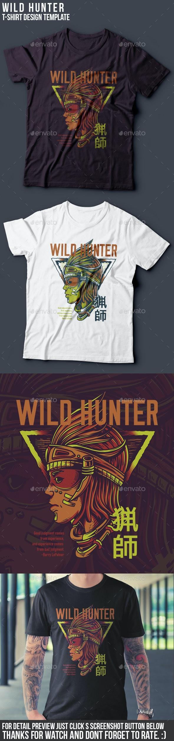 Wild Hunter T-Shirt Design - Clean Designs