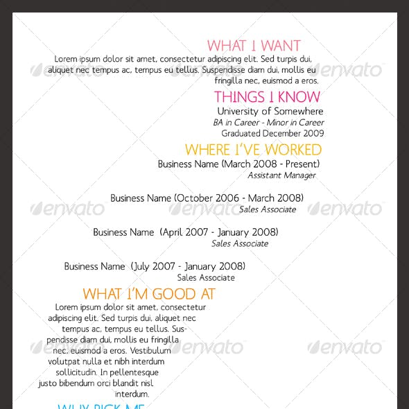 SineWave Resume Template - A4 & Letter