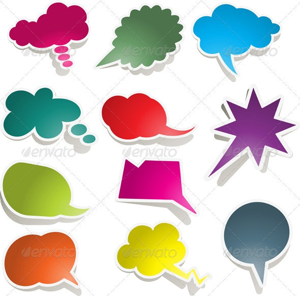 Speech bubble collection - Objects Vectors