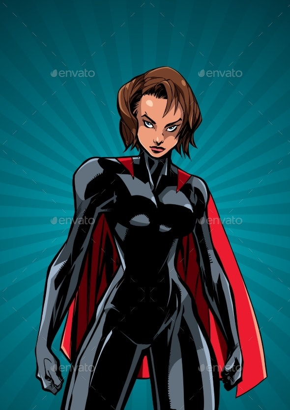 Superheroine Battle Mode Ray Light Vertical - People Characters