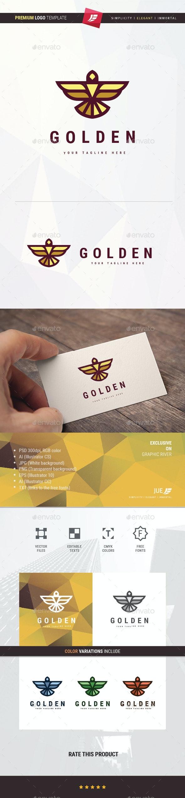 Golden Eagle Logo - Animals Logo Templates