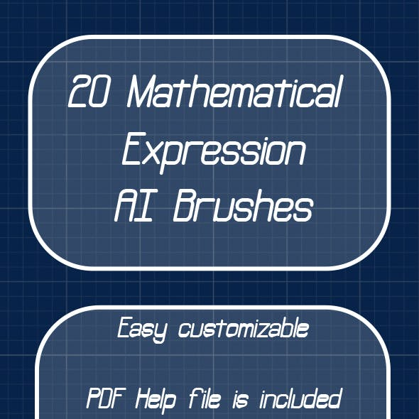 Mathematical Scatter, Pattern Brushes-30 Math Educational, Scientific School Handwritten Expressions