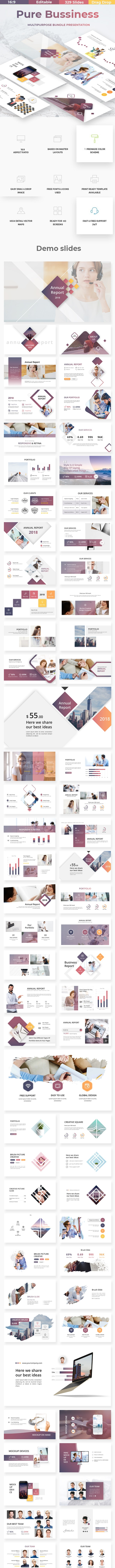 Pure Business Bundle 2 in 1 Powerpoint Template - Business PowerPoint Templates