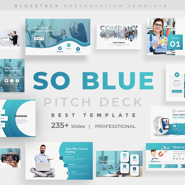 So Blue - Business Moderm Powerpoint Template
